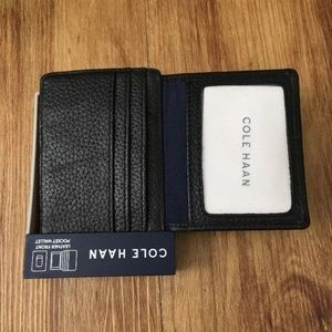 Cole Haan Accessories - COLE HAAN Pebbled Leather Front Pocket Wallet